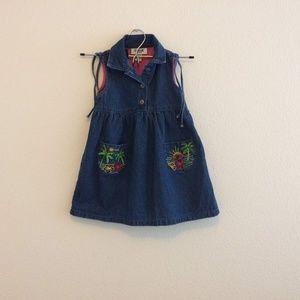 OshKosh B'Gosh Blue Denim Jeans Dress Size 3T